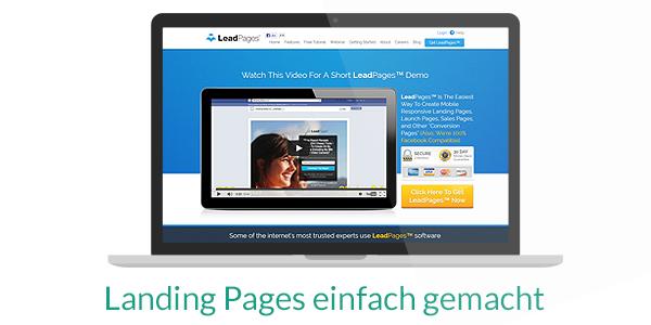 Mit LeadPages erstellen Sie Landing Pages in sehr kurzer Zeit